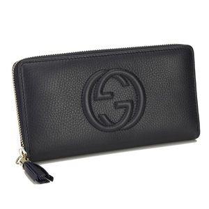 Gucci Soho Black Zip Around Wallet